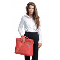 RENA Lookbook - Geanta rosie din piele naturala, model Ilinvca RNXL3006