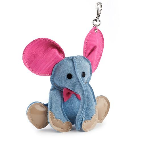 Bag Charm ELEPHANT RENA RNCB002 blue-fuchsia